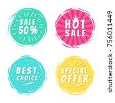 sale 50  best hot choice... | Shutterstock .eps vector #756011449