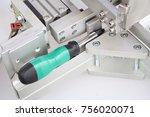 screwdriver  screw  nuts  ... | Shutterstock . vector #756020071