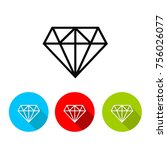 diamond icon  eps 10 | Shutterstock .eps vector #756026077