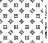 black and white geometry... | Shutterstock .eps vector #756028021