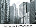 windows of commercial building... | Shutterstock . vector #756036325