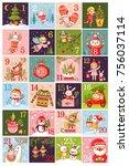 vector  hristmas advent...   Shutterstock .eps vector #756037114