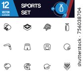 sport icon vector collection set | Shutterstock .eps vector #756038704