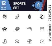 sport icon vector collection set | Shutterstock .eps vector #756039151