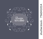 calligraphic ornamental design... | Shutterstock .eps vector #756041014
