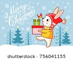 Christmas Card With A Hare...