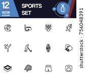 sport icon vector collection set | Shutterstock .eps vector #756048391