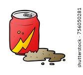 cartoon can of soda   Shutterstock .eps vector #756050281