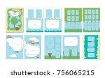 album for graduation in... | Shutterstock .eps vector #756065215