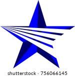 blue star logo concept | Shutterstock .eps vector #756066145