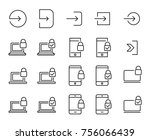 simple set of login related... | Shutterstock .eps vector #756066439