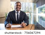 charming warm friendly smile... | Shutterstock . vector #756067294
