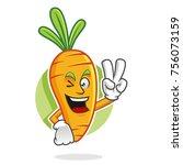 carrot character design or... | Shutterstock .eps vector #756073159