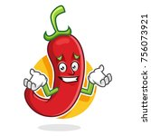 chili pepper character design... | Shutterstock .eps vector #756073921