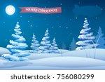 winter holidays night template...