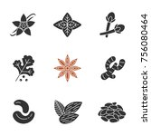 spices glyph icons set.... | Shutterstock . vector #756080464