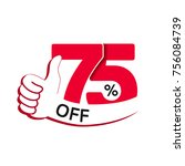 vector special sale offer. red...   Shutterstock .eps vector #756084739