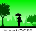 lovely retired elderly woman... | Shutterstock .eps vector #756091321