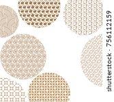 round geometric golden... | Shutterstock .eps vector #756112159