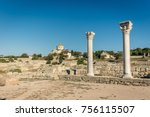 Ancient Columns And Ruins Of...