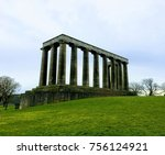 national monument on calton... | Shutterstock . vector #756124921
