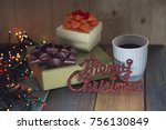 two boxes with gifts... | Shutterstock . vector #756130849