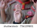 boy scout symbol  | Shutterstock . vector #756139801