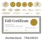 vector gold seal and... | Shutterstock .eps vector #75614014