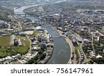 aerial view of the river tyne  | Shutterstock . vector #756147961