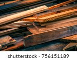 raw wood boards | Shutterstock . vector #756151189