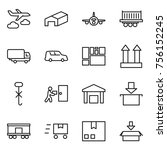 thin line icon set   journey ... | Shutterstock .eps vector #756152245