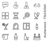 thin line icon set   message ... | Shutterstock .eps vector #756152365