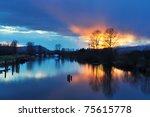 Alouette River Raining Sunset ...