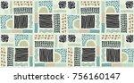 seamless african pattern.... | Shutterstock .eps vector #756160147