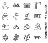 thin line icon set   car... | Shutterstock .eps vector #756160255