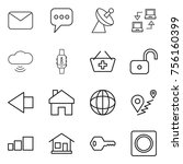 thin line icon set   mail ... | Shutterstock .eps vector #756160399