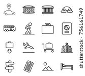 thin line icon set   car... | Shutterstock .eps vector #756161749