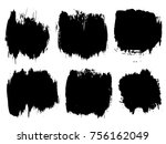 collection or set of artistic...   Shutterstock . vector #756162049