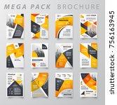 mega pack brochure design... | Shutterstock .eps vector #756163945