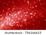 red christmas octagon bokeh... | Shutterstock . vector #756166615