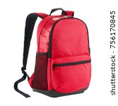 red backpack isolated on white... | Shutterstock . vector #756170845