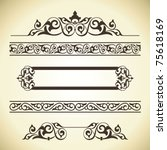 vector set of ornate page decor ... | Shutterstock .eps vector #75618169