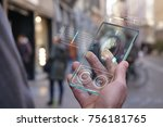 the hand of a man in suits ... | Shutterstock . vector #756181765