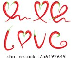 chili design vector love | Shutterstock .eps vector #756192649