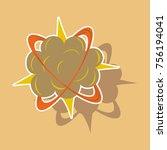 paper sticker on theme comic...   Shutterstock .eps vector #756194041