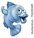 A Blue Cute Cartoon Fish...