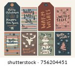 merry christmas and happy new...   Shutterstock .eps vector #756204451