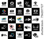 vector logo for photographer | Shutterstock .eps vector #756207727