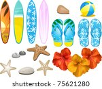 set of design elements with... | Shutterstock . vector #75621280
