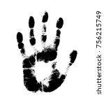 print of hand of human  cute...